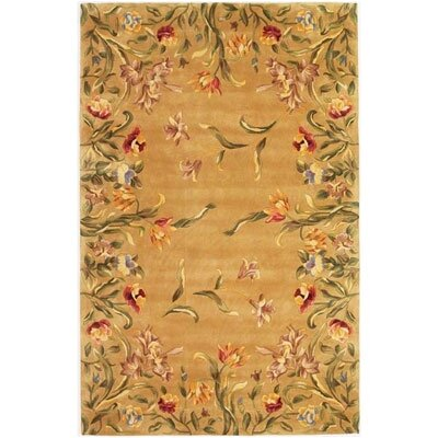 KAS Oriental Rugs Emerald Ivory With Grapes Border Rug | Wayfair