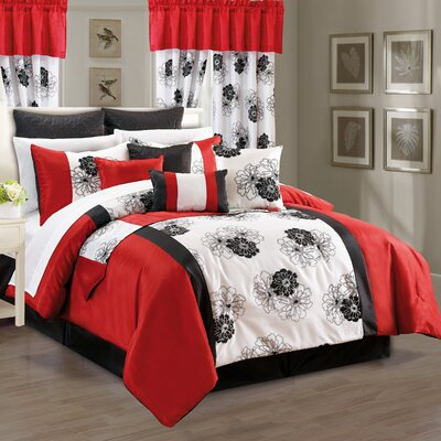 Flocked Lolita Comforter Set Size: Queen