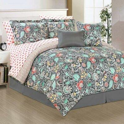 Alessandra 10 Piece Comforter Set Size: Queen