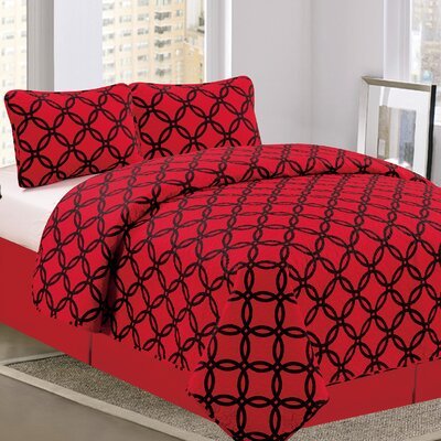 Linx Reverse 3 Piece Reversible Quilt Set Size: Queen
