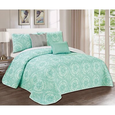 Glastonbury 5 Piece Quilt Set Size: Queen