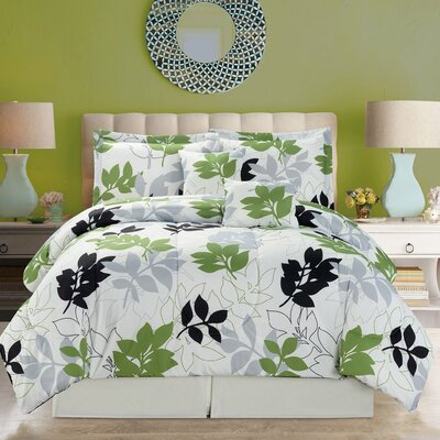 Verdant 5 Piece Comforter Set Size: Queen