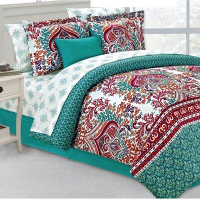 Bijou 10 Piece Comforter Set Size: Queen