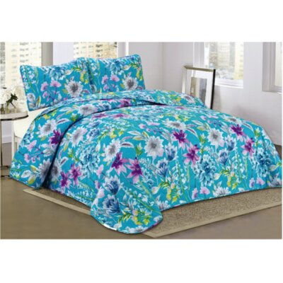 Santorini 3 Piece Quilt Set Size: Queen