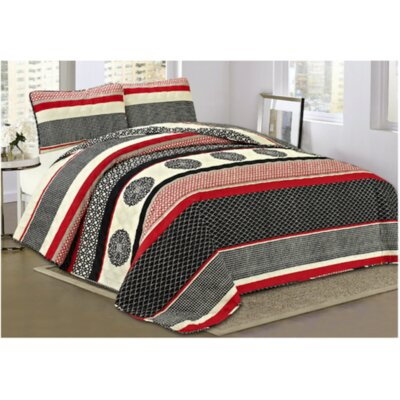 Grenada 3 Piece Quilt Set Size: Queen