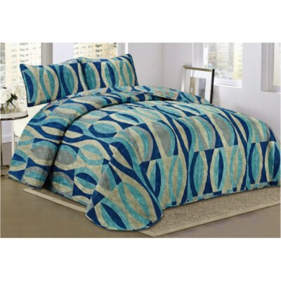 Morley 3 Piece Quilt Set Size: Queen