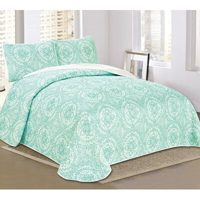 Glastonbury 3 Piece Reversible Quilt Set Size: Queen