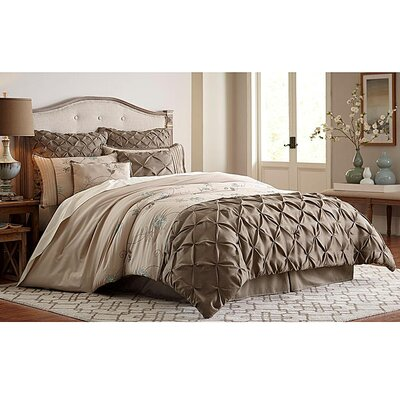 Cartee 8 Piece Comforter Set Size: King
