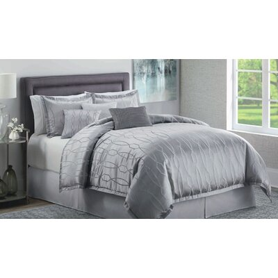 Garbo 7 Piece Comforter Set Size: King