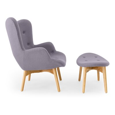 Contour Lounge Chair and Ottoman Upholstery: Flint