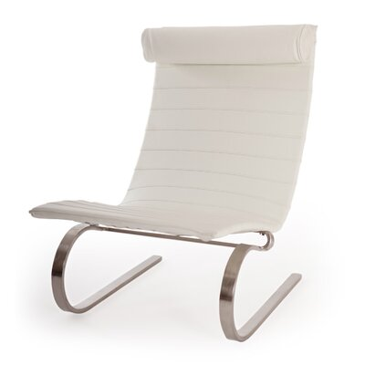 Cantilever Modern Lounge Chair Color: Arctic White