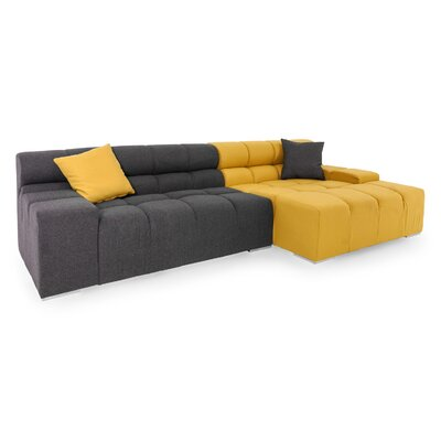 Cubix Sectional Orientation: Right Hand Facing, Upholstery: Charcoal/Arylide