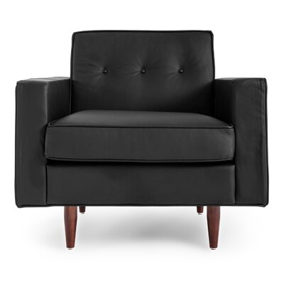 Potter Mid Century Modern Upholstered Solid Armchair Color: Black