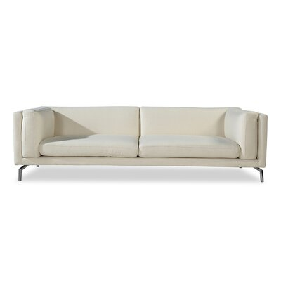 Tia Modern Solid Loft Sofa Upholstery: White Peacoat