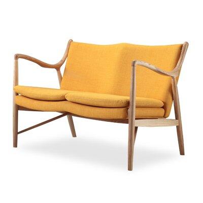 Rashad Mid Century Modern Settee Upholstery: Citrine