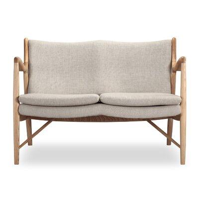 Rashad Mid Century Modern Settee Upholstery: Urban Hemp