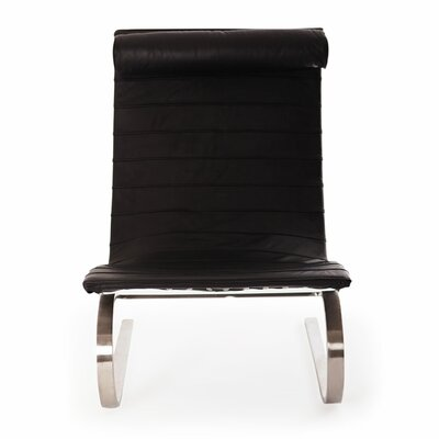 Cantilever Lounge Chair Upholstery: Black