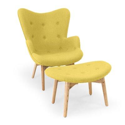 Contour Lounge Chair and Ottoman Upholstery: Dijon