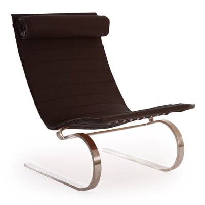 Cantilever Modern Lounge Chair Color: Coco Brown
