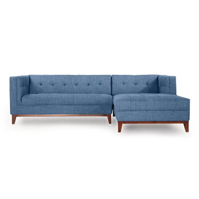 Harrison Sectional Upholstery: Blue Curacao, Orientation: Right Hand Facing