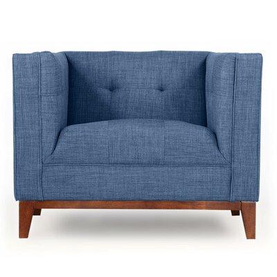 Harrison Mid Century Modern Armchair Color: Blue Curacao