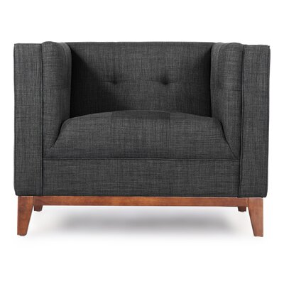 Harrison Mid Century Modern Armchair Color: Midnight Oil