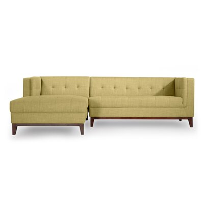 Harrison Sectional Upholstery: Lemon Grass, Orientation: Left Hand Facing
