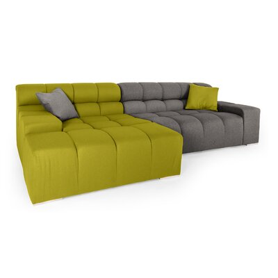 Cubix Sectional Orientation: Left Hand Facing, Upholstery: Deco Moss/Cadet Gray