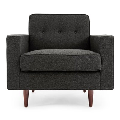 Potter Mid Century Modern Armchair Color: Charcoal