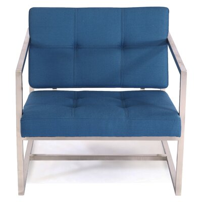 Cube Arm Chair Color: Sapphire