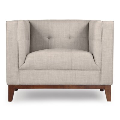 Harrison Mid Century Modern Armchair Color: Dove Gray