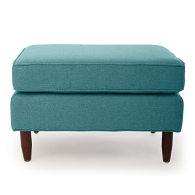 Mickey Mid Century Modern Ottoman Color: Blue