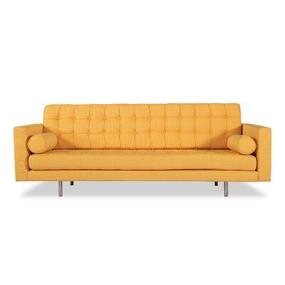 Madison Mid Century Modern Sofa Upholstery: Saffron