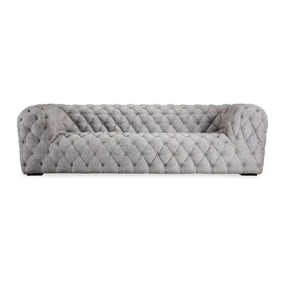 Cumulus Mid Century Modern Tufted Chesterfield Sofa Upholstery: Pebble