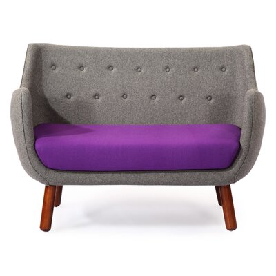Parlor Mid Century Modern Sofa Upholstery: Cadet Gray/Periwinkle