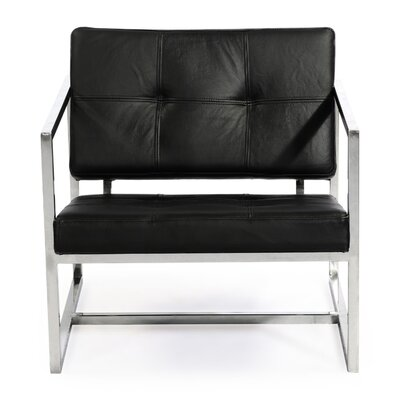 Cube Arm Chair Color: Black