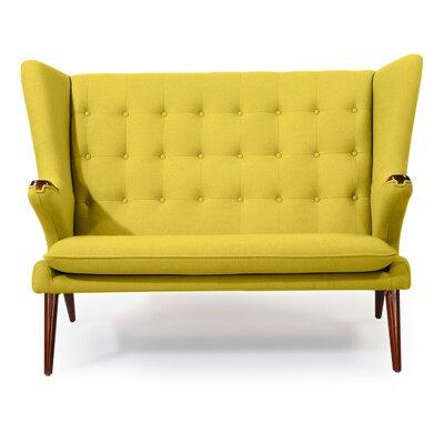 Bear Wegner Papa Wing Loveseat Upholstery: Dijon