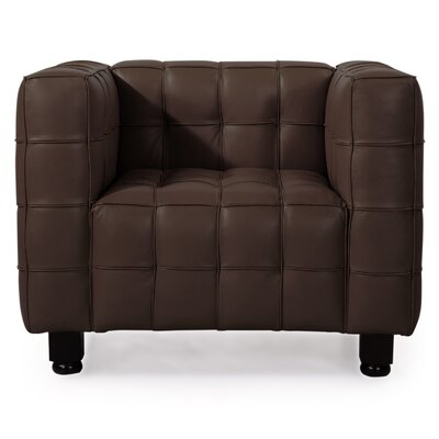 Kubus Armchair Color: Coco Brown