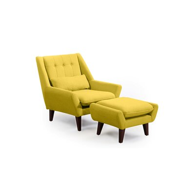 Stuart Lounge Chair and Ottoman Upholstery: Dijon