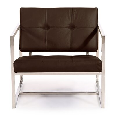 Cube Armchair Color: Coco Brown