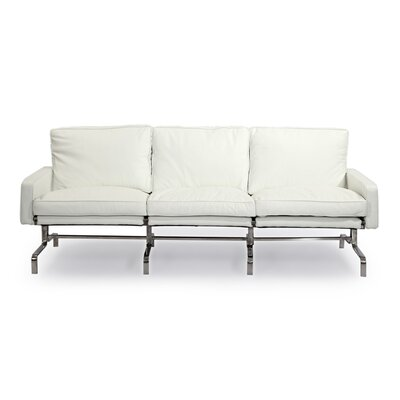 Modern Leather Sofa Upholstery: Arctic White