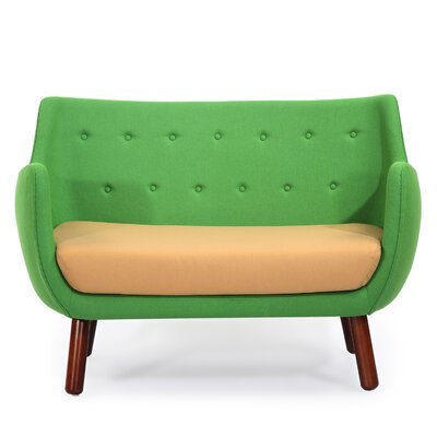 Parlor Mid Century Modern Sofa Upholstery: Mint Green/Latte