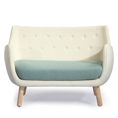 Parlor Mid Century Modern Sofa Upholstery: Beige/Surf Green