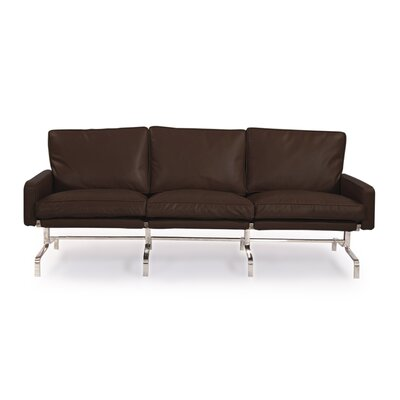 Modern Leather Sofa Upholstery: Coco Brown