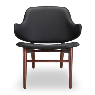 Larsen Side Chair Upholstery: Black