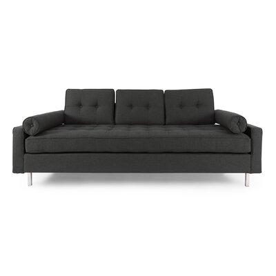 Adrian Mid Century Modern Sofa Upholstery: Chevron Gray