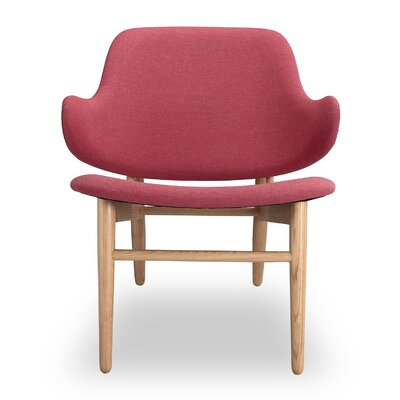 Larsen Lounge Chair Finish: Urban Coral, Finish: Ash