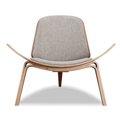 Gregg Plywood Modern Lounge Chair Upholstery: Potash