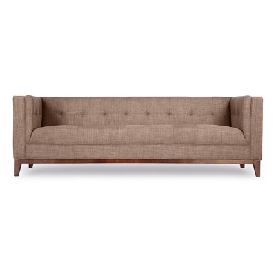 Harrison Mid Century Modern Loft Chesterfield Sofa Upholstery: French Press