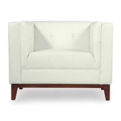 Harrison Mid Century Modern Club Chair Color: White